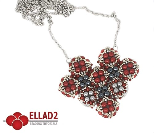 Beading Tutorial Heart Pendant by Ellad2