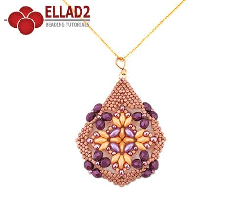 Beading Tutorial Petra Pendant by Ellad2