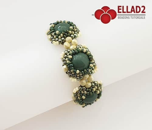 Beading Tutorial Dome Bracelet by Ellad2