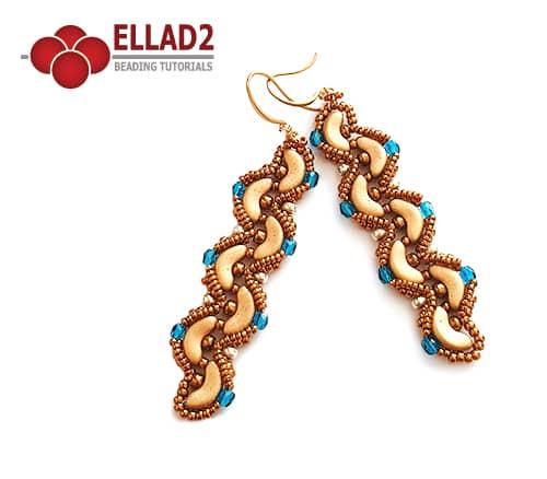 Ellad2 Beaded Jewelry- Maira beaded earrings