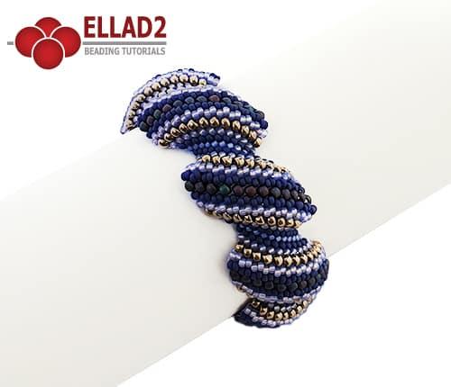 Flat Cellini Spiral Stich Bracelet